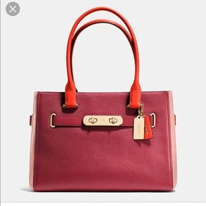 Coach Colorblock Swagger Carryall